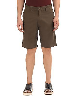 Arrow Sports Regular Fit Flat Front Shorts
