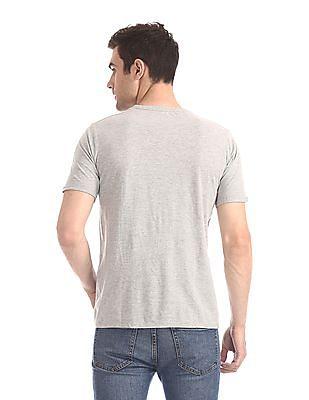 Cherokee White Crew Neck Graphic T-Shirt