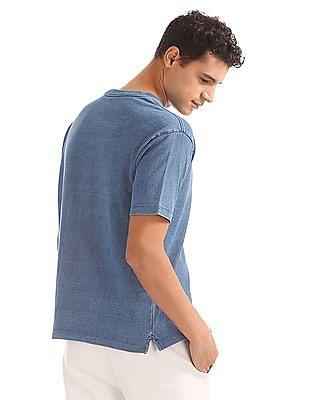GAP Men Indigo Logo Short Sleeve Crewneck T-Shirt