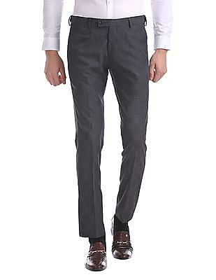 USPA Tailored Super Slim Fit Check Trousers