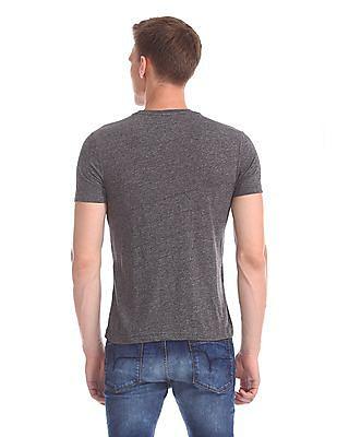 Flying Machine Regular Fit Heathered T-Shirt