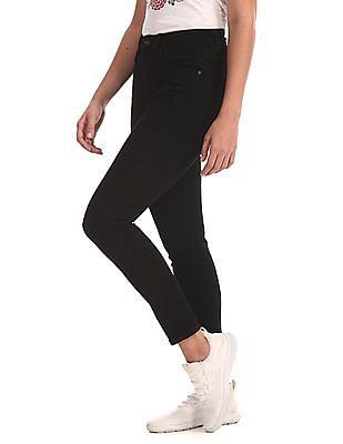 U.S. Polo Assn. Women Black High Rise Skinny Fit Jeans
