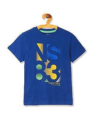 Nautica Kids Boys Short Sleeve Screen Tee