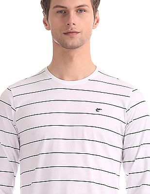Ruggers White Crew Neck Striped T-Shirt