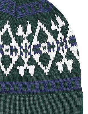 U.S. Polo Assn. Patterned Knit Beanie