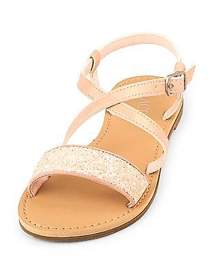 The Children's Place Girls Glitter Strap Sandals