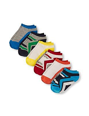 The Children's Place Boys Athletic Mixed Print Ankle Socks 6-Pack