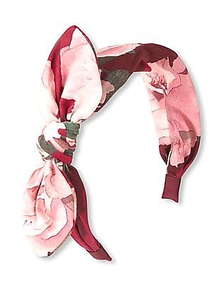The Children's Place Girls Floral Print Knotted Bow Head Wrap