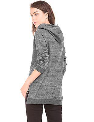 U.S. Polo Assn. Women Hooded Heathered Sweatshirt