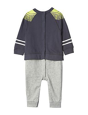 GAP Baby Blue Disney Dumbo Band Leader Double Layer One Piece