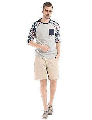 Aeropostale Printed Sleeve T-Shirt