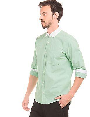 Ruggers Contrast Collar Slim Fit Shirt