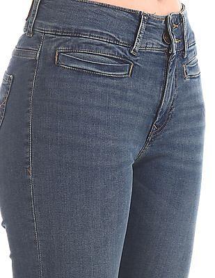 U.S. Polo Assn. Women Blue Stone Wash Bootcut Jeans