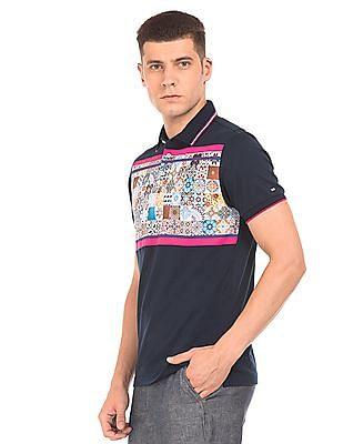 Arrow Sports Printed Chest Polo Shirt