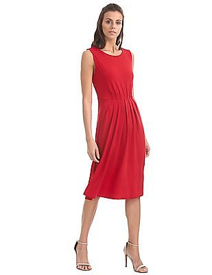 U.S. Polo Assn. Women Knitted Sleeveless Fit And Flare Dress