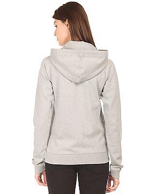 Aeropostale Heathered Zip Up Sweatshirt