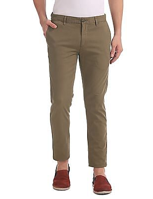 U.S. Polo Assn. Denim Co. Trim Fit Patterned Weave Trousers