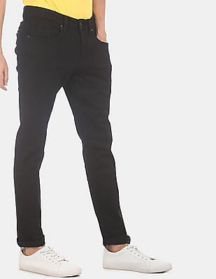 Flying Machine Men Black Prince Slim Fit Mid Rise Jeans