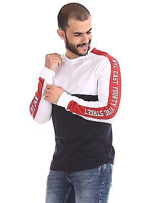 Colt White Panelled Sleeve Colour Block T-Shirt