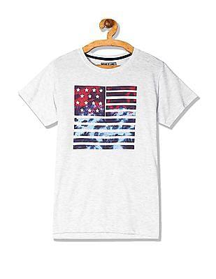 FM Boys Boys Crew Neck Graphic Print T-Shirt
