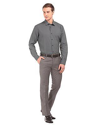 Arvind Slim Fit Kent Collar Shirt