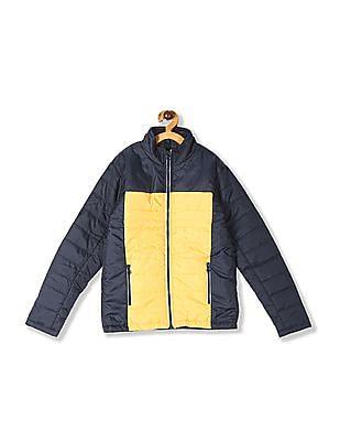 Cherokee Grey Boys High Neck Colour Block Jacket