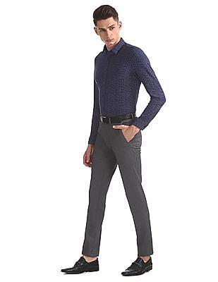 Arrow Newyork Slim Fit Wrinkle Free Trousers