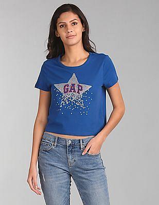 GAP Printed Sequin Star Logo Tee