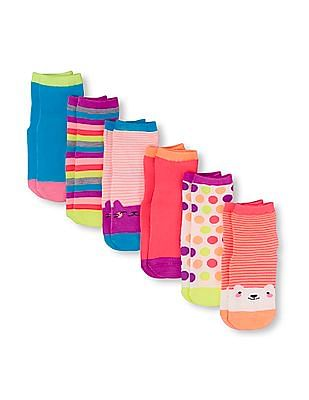 The Children's Place Toddler Boy Assorted Critter Midi Socks 6-Pack
