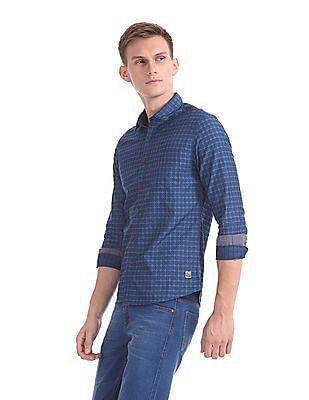 Cherokee Long Sleeve Patterned Shirt