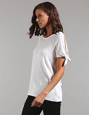 GAP Softspun Tie-Sleeve T-Shirt