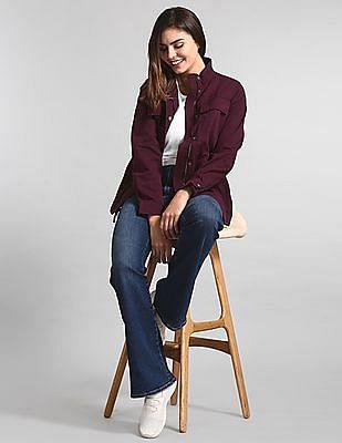GAP Purple Utility Twill Jacket