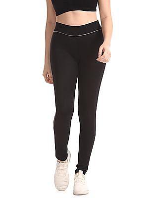 SUGR Black Solid Active Leggings