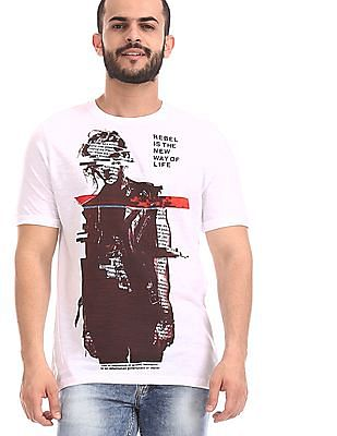 Colt White Slubbed Graphic T-Shirt