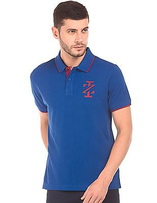Izod Contrast Tipped Slim Fit Polo Shirt