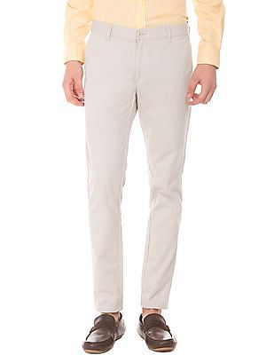 Ruggers Skinny Fit Solid Chinos