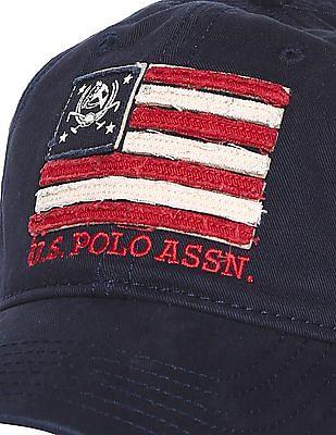 U.S. Polo Assn. Brand Applique Cotton Cap