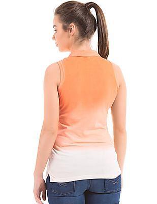 U.S. Polo Assn. Women Dip Dye Regular Fit Polo Shirt