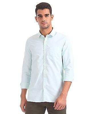 Excalibur Semi-cutaway Collar Check Shirt