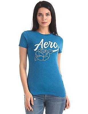 Aeropostale Appliqued Front Short Sleeve T-Shirt