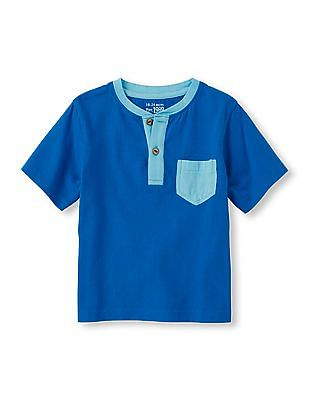 The Children's Place Baby Blue Henley T-Shirt