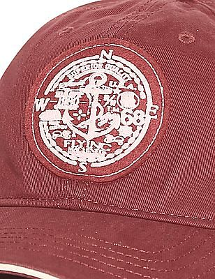 Flying Machine Red Appliqued Twill Cap