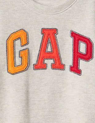 GAP Baby Grey Gradient Logo Pullover