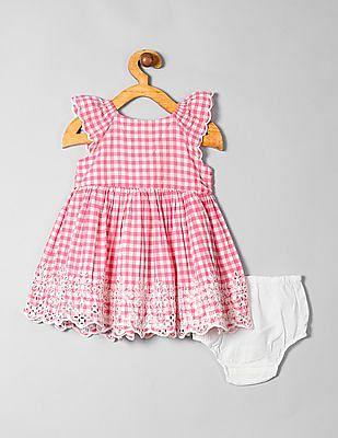GAP Baby Gingham Eyelet Dress