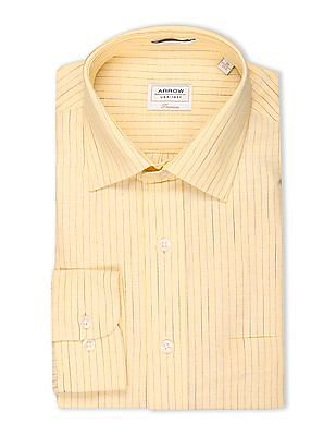 Arrow Pinstripe Cotton Linen Shirt
