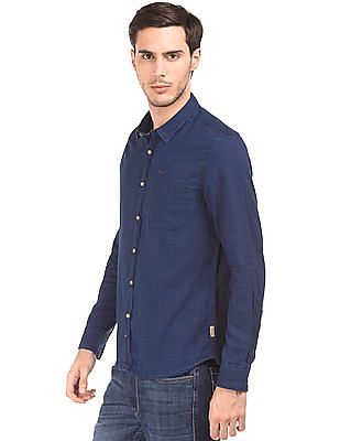Flying Machine Stone Wash Slim Fit Shirt