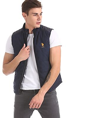 U.S. Polo Assn. Blue Panelled Gilet Jacket