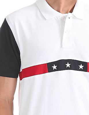 U.S. Polo Assn. Regular Fit Colour Block Polo Shirt