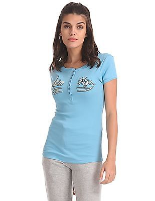 Aeropostale Regular Fit Henley T-Shirt