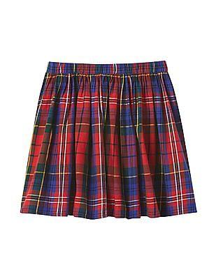 GAP Girls Plaid Flippy Skirt